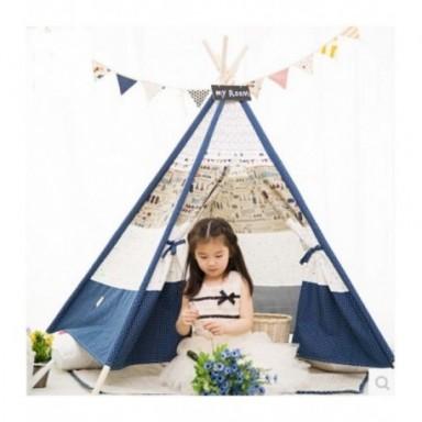 Tienda de juego Teepee para niños 100% algodón lona interior o al aire libre tienda de campaña para niños