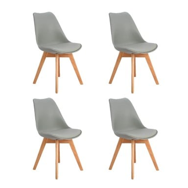 Pack Silla Eames acolchada gris