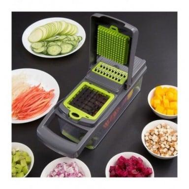 Cortador de verduras multifuncional mandolina rebanador fruta pelador de zanahorias rallador accesorios de cocina cesta para veg