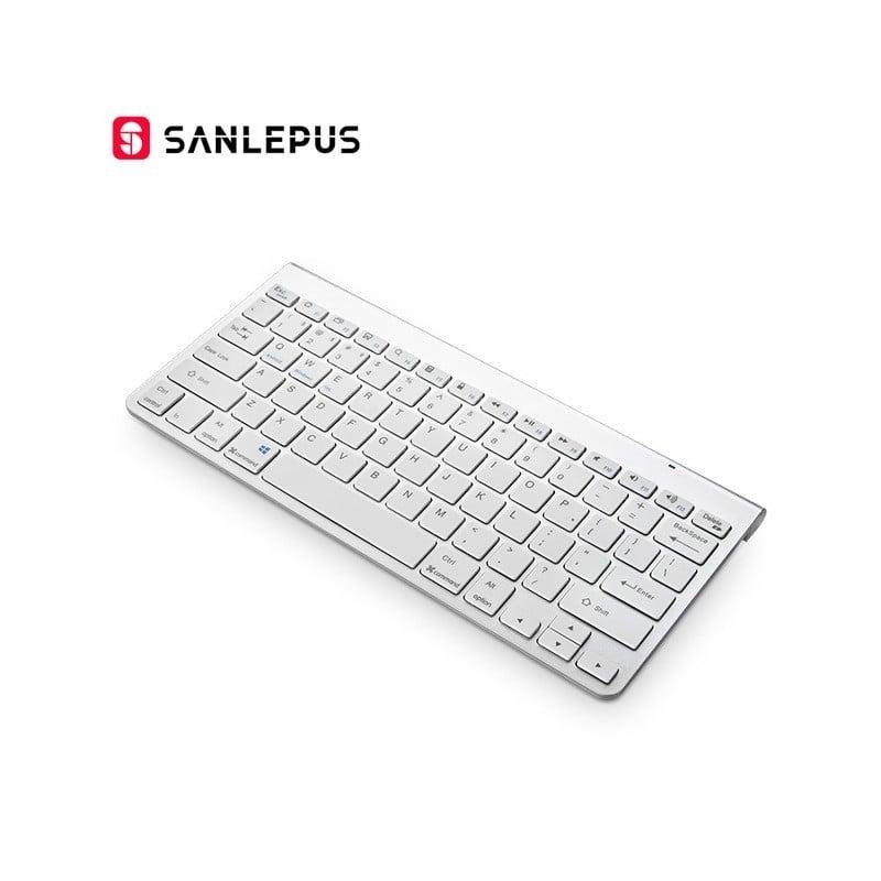 Teclado inalámbrico para ordenador SANLEPUS ultradelgado con Bluetooth, Mini para teléfono, tableta, portátil, iPad, iPhone, ...
