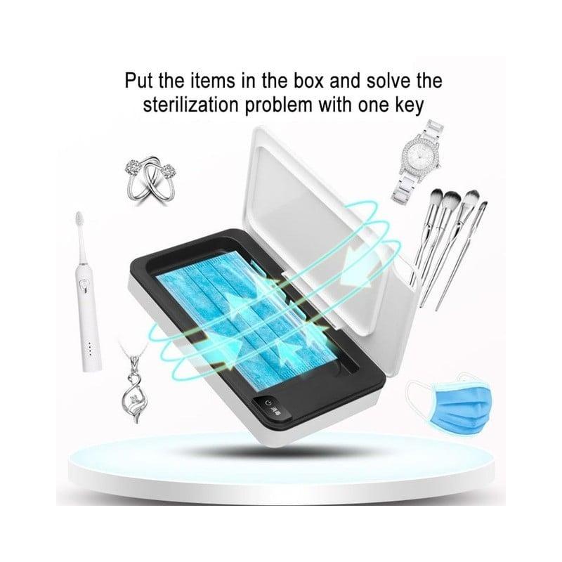 Esterilizador de máscara de cargador USB para teléfono móvil multifuncional de gran capacidad esterilizador Uv caja de esteri...