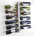 Rack de vino para 12 botellas acero inoxidable Cocina