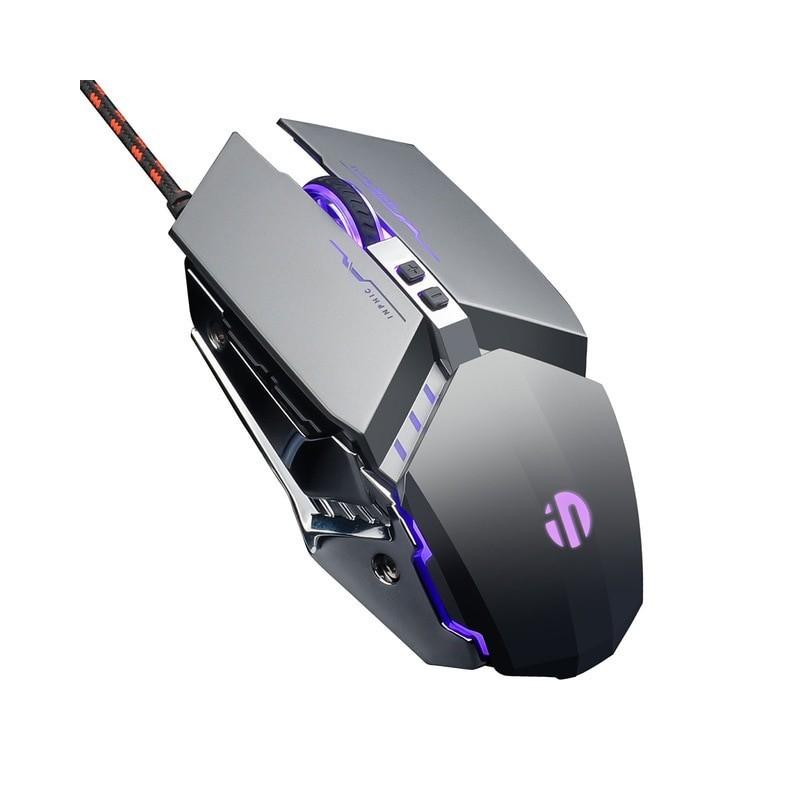 Ratón de Gaming con USB, ratón de mesa silencioso con retroiluminación RGB, ratón de juego ergonómico LED de 4800 DPI, ratón ...