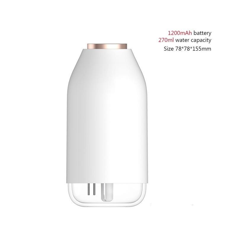 Humidificador de aire inalámbrico, 780ml, batería de 2000mAh, Humidificador recargable, aromaterapia, Internacional