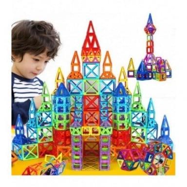 Minijuego de construcción de diseñador magnético, de 184 Uds. A 110 Uds., juguete de construcción, bloques magnéticos de plástic