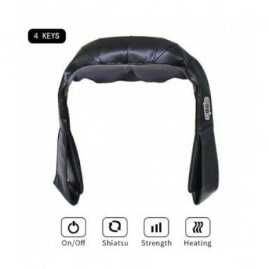 Masajeador eléctrico para hogar y coche Shiatsu con forma de U, masajeador Cervical para espalda y cuello, máquina multifunciona