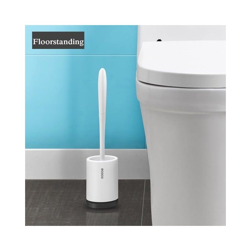 Cepillo y soporte de inodoro TPR, utensilios cepillo de limpieza de drenaje rápido para inodoro, hogar, WC, juegos de accesor...