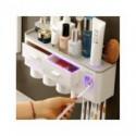 Set organizador de accesorios para baño, soporte automático para cepillos de dientes, dispensador de pasta de dientes, soport...