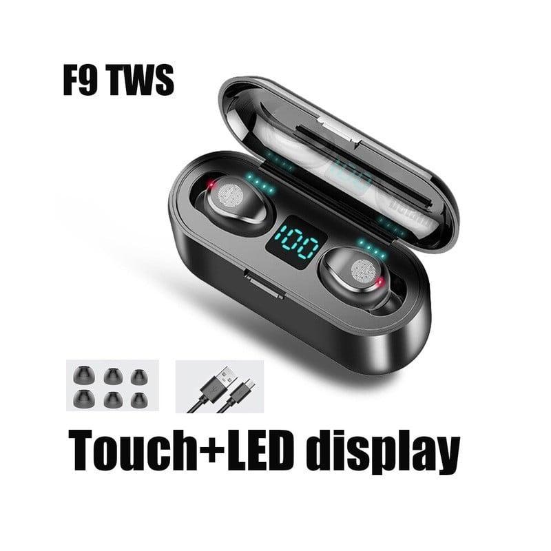 Auriculares inalámbricos F9 TWS Bluetooth 5,0, auriculares con Control táctil, auriculares estéreo deportivos, auriculares co...