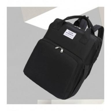 Moda 2020, bolsa de pañales plegable portátil para cuna, mochila multifunción de gran capacidad para bebé, mochila para pañales,