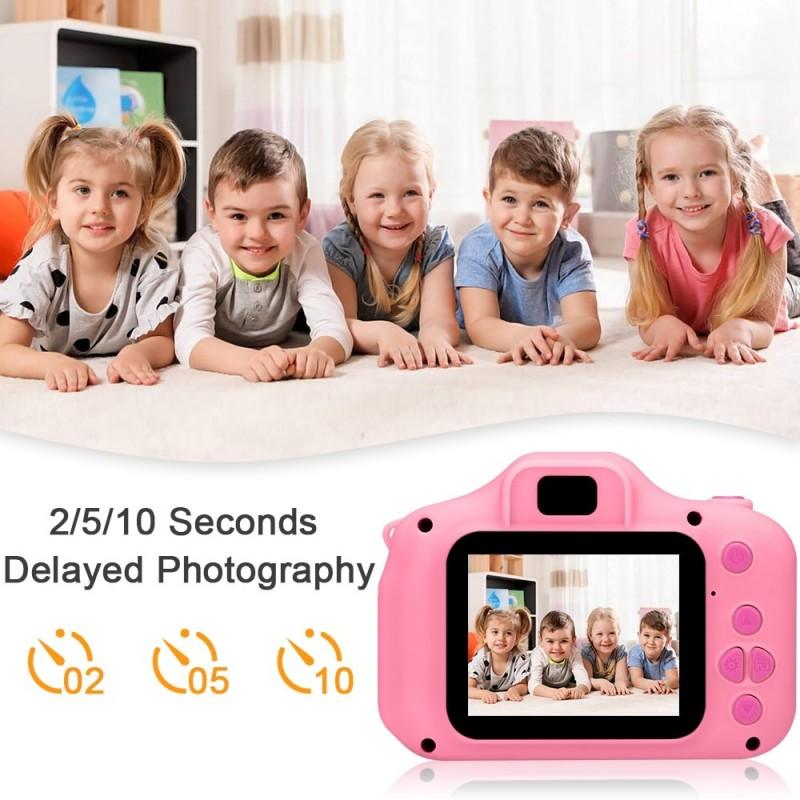 Cámara de juguete para niños, Mini cámara Digital, cámara de vídeo, cámara de dibujos animados para niños, videocámara de jug...
