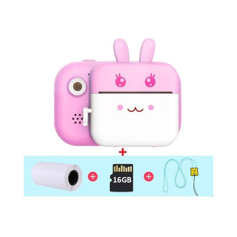 Cámara de impresión instantánea para niños, cámara de vídeo Digital HD de 1080P para niños con juguetes térmicos de papel fotogr