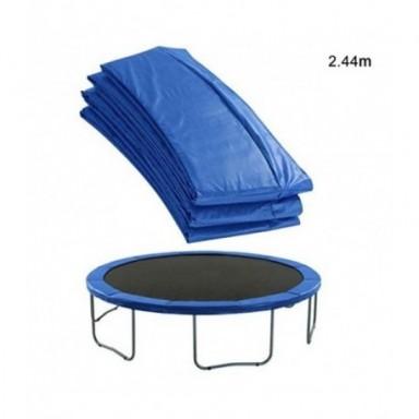 Cubierta protectora lateral Universal para cama elástica, almohadilla de seguridad de repuesto, cubierta de resorte azul de PVC,
