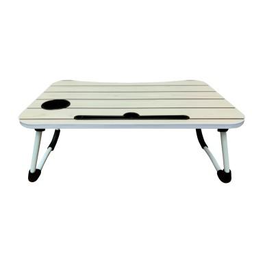 Mesa plegable para notebook madera blanca