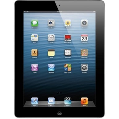 Apple iPad 4 Tablet 16GB Storage 1.40GHz 9.7 WiFi MD510LL A Black reacondicionado