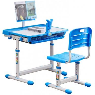 Escritorio + Silla Ergonomica para niños Azul