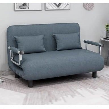 Sofa Cama Extendible Azul Linen