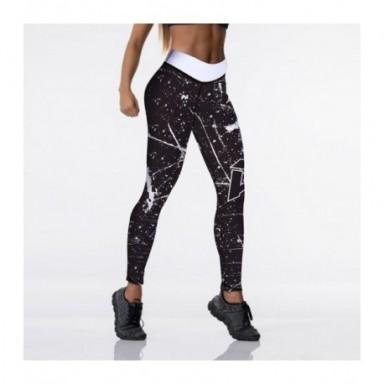 Qickitout-mallas con estampado Digital para mujer, pantalones elásticos de cintura alta, con realce, 12% LICRA