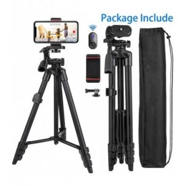 Trípode de teléfono para cámara de grabación de vídeo, soporte con Bluetooth, remoto, portátil, de viaje, para Xiaomi, Huawei, T