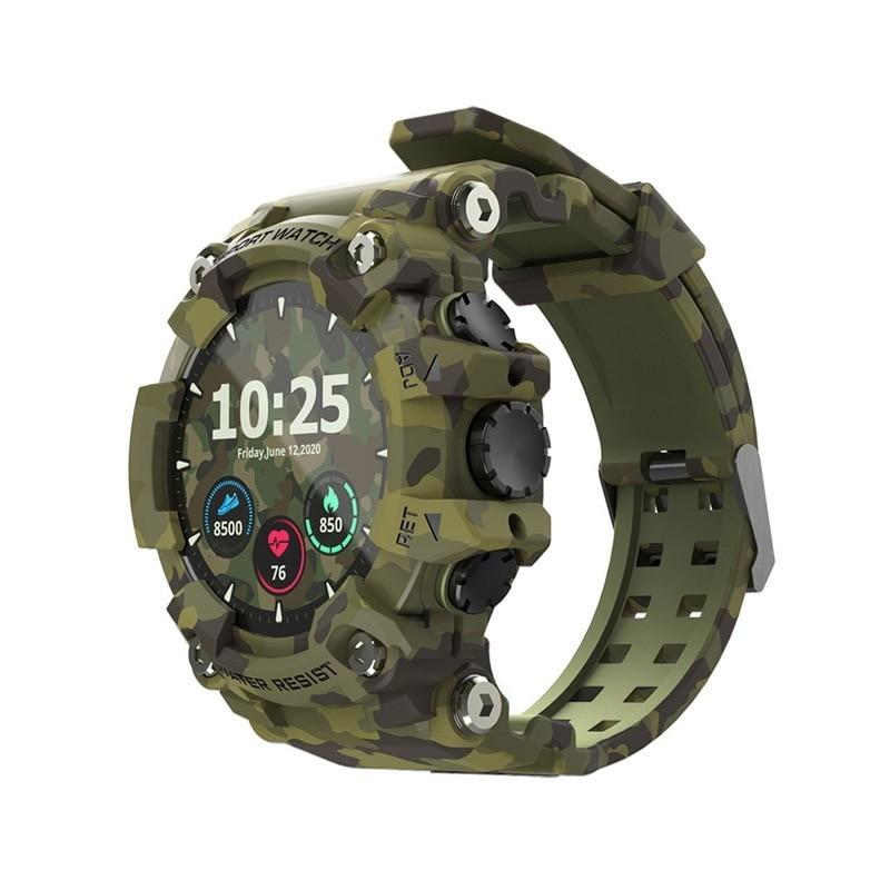 LOKMAT-reloj deportivo inteligente con rastreador para hombre, completamente con pantalla táctil, Monitor de ritmo cardíaco y pr