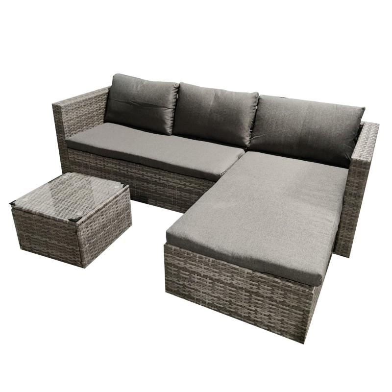 Juego de Terraza Grey Chaise Collection Terraza y Jardin