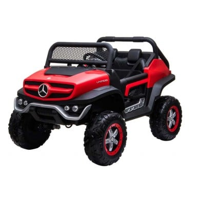Auto a bateria buggy Mercedes Unimog Rojo