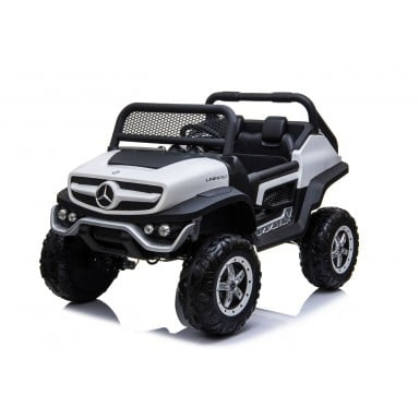 Auto a bateria buggy Mercedes Unimog Blanco