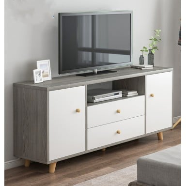 Rack Para TV White&Silver