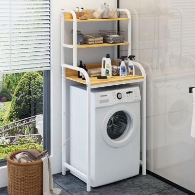 Rack de madera para lavadora