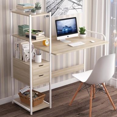 Escritorio computador con estantería lateral 006