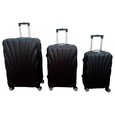 Set 3 maletas ABS negra Scheffler