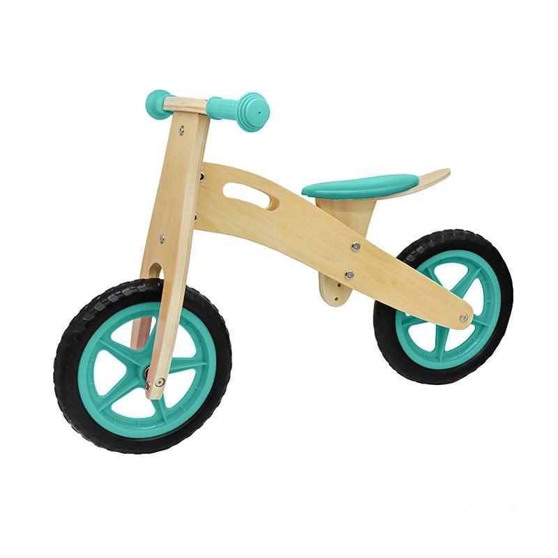 Bicicleta aprendizaje infantil madera verde Niños