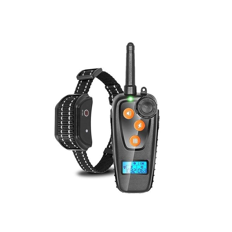 Collar de entrenamiento eléctrico con pantalla LCD, dispositivo eléctrico de entrenamiento con vibración antiladridos, recarg...