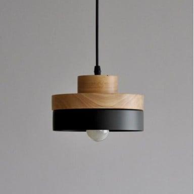Lampara redonda wooden L11