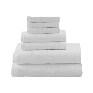 Set 7 Toallas 100% Algodón Marca Biancobelo (Color Blanco)