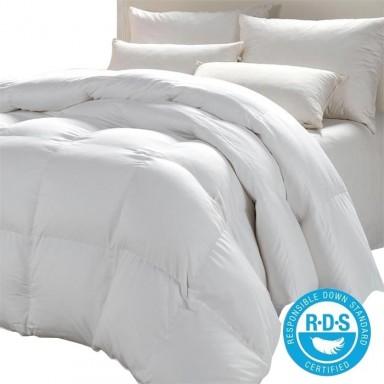 Plumón Blanco 100% Pluma Ganso / Con certificacion RDS
