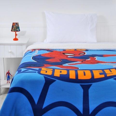 Frazada Polar Sherpa Spiderman Spidy Frazadas