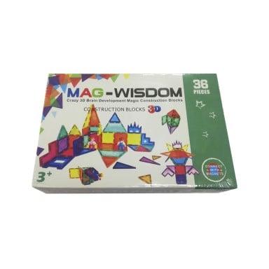 Bloques 3D Mag-Wisdom. Juego de 36 piezas.