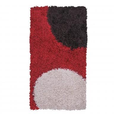 Alfombra Shaggy Roma 150x220 Círculos Rojo