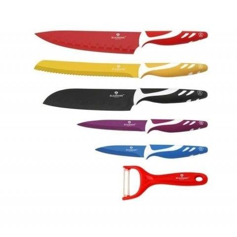 Set de 6 cuchillos de acero colores Cocina