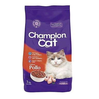 Champion Cat Pollo. Pack 6 x 3 kgrs
