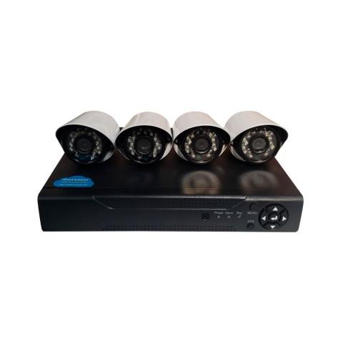 Set 4 cámaras de seguridad HD + DVR Tecnología