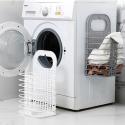 Cesta de la ropa sucia cesta de baño cesto de lavandería plegable colgante de pared grande de plástico cesto de almacenaje de...