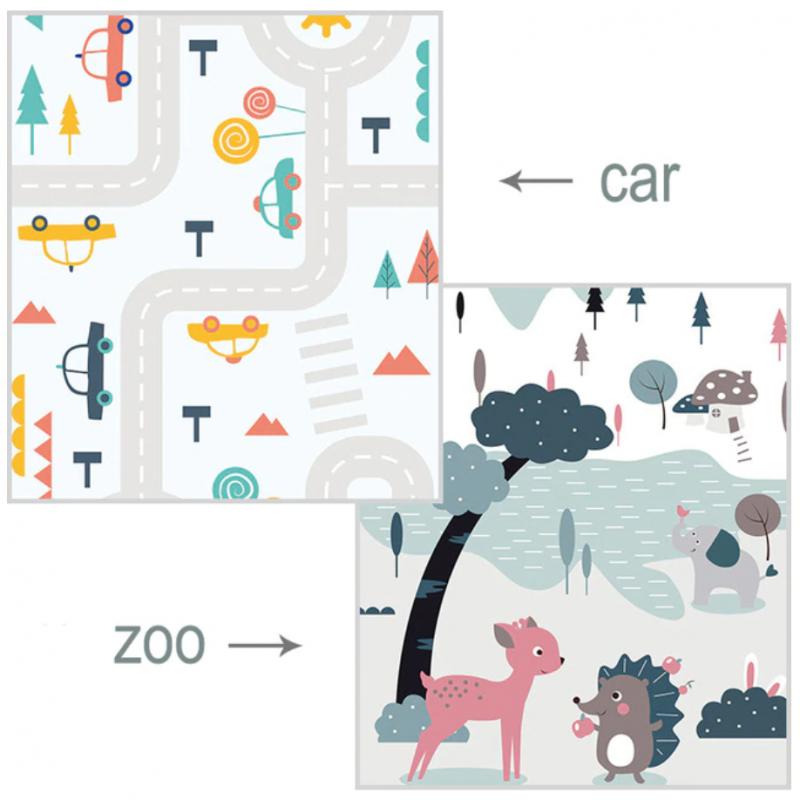 Alfombra plegable para juegos de bebés de dibujos animados de 200x180 cm, alfombrilla para puzle de Xpe, alfombrilla para esc...