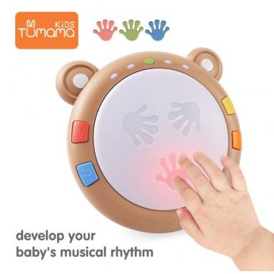 Tumama, juguetes musicales para bebés, tambores de mano, instrumentos musicales para niños, juguetes para bebés de 6 a 12 meses,