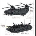 1351 Uds., equipo militar Swat, fuerza especial de policía, helicóptero de transporte, bloques de construcción compatibles co...