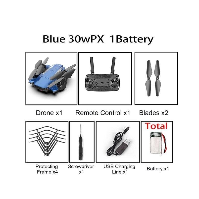XKJ nuevo Drone F84 WiFi Drone de larga duración de la batería RC Quadcopter plegable 4K HD fotografía aérea juguetes de Cont...