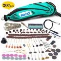 Herramienta de amoladora eléctrica BDCAT 180 W, Mini taladro de pulido de velocidad Variable 207 uds, Kits de herramientas ro...