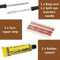Reparación de neumáticos de coche Kit-Kit de coche herramienta de reparación de neumáticos Kit para Tubeless DE EMERGENCIA ne...
