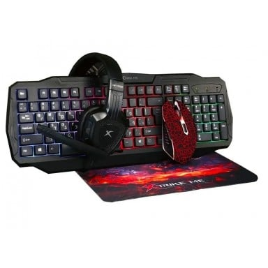Kit Gamer Xtrike Teclado + Mouse + Audifonos + PAD